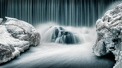 Waterfalls Wall Art - Photograph - Icy Falls by Keijo Savolainen