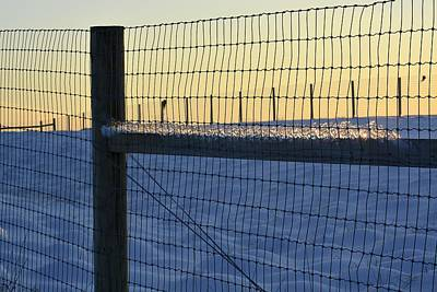 Photograph - Icy Fence by Tana Reiff