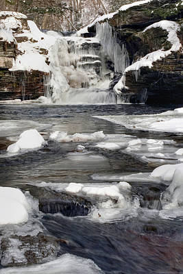 Photograph - Icy Flow Below Murray Reynolds Waterfall by Gene Walls