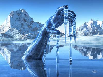Snowscape Digital Art - Icy Grip by Daniel Eskridge