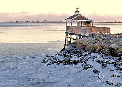 Photograph - Icy Harbor At Low Tide by Janice Drew