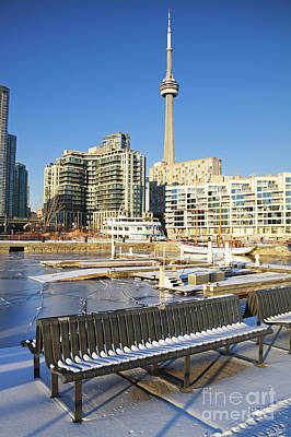 Icy Harbourfront Art Print by Charline Xia