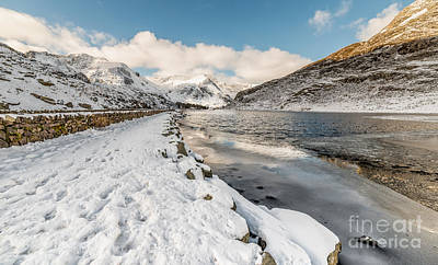 Icy Digital Art - Icy Lake by Adrian Evans