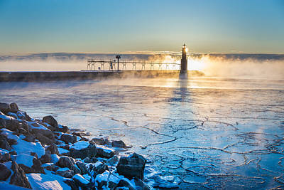 Icy Morning Mist Art Print by Bill Pevlor