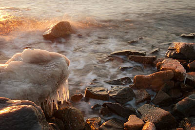 Chesapeake Bay Photograph - Icy Morning Tide by Benjamin DeHaven