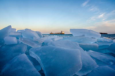 Freighter Photograph - Icy Passage by Gales Of November