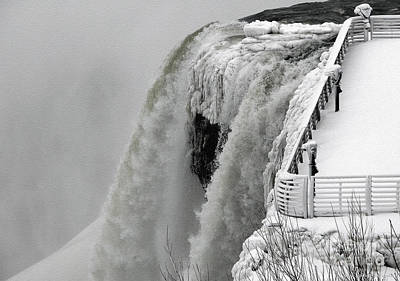 Photograph - Icy Plunge At Niagara Falls by Rose Santuci-Sofranko