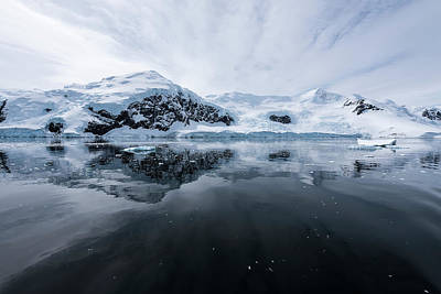 Photograph - Icy Reflections  Antarctica by Deb Garside