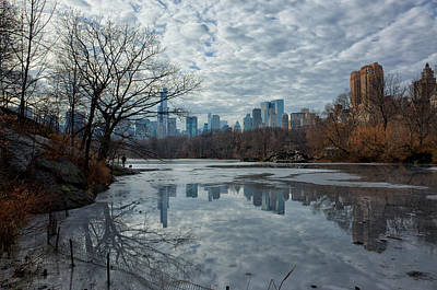 Photograph - Icy Reflections by Cornelis Verwaal