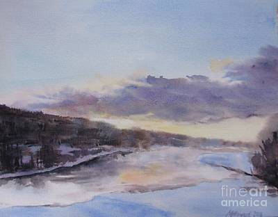 Cold Temperature Painting - Icy River Dawn by Martin Howard