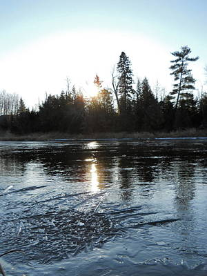 Photograph - Icy River Sunrise by Kent Lorentzen
