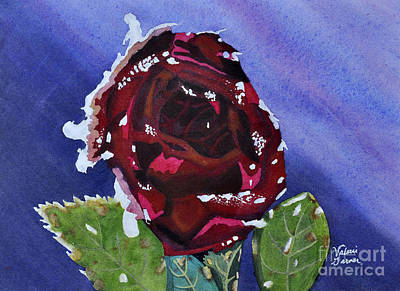 Painting - Icy Rose Watercolor Art Painting by Valerie Garner