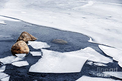 Icy Shore In Winter Art Print