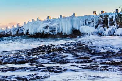 Icy Shores Art Print