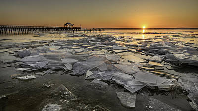 Icy Sunrise Art Print by Michael Donahue