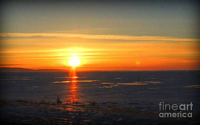 Photograph - Icy Sunset by Lisa Conner