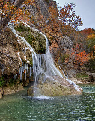 Photograph - Icy Turner Falls by Ricky Barnard