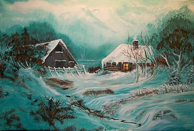 Painting - Icy Twilight by Sharon Duguay