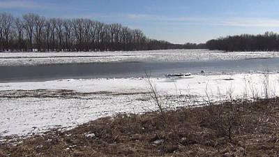 Icy Wabash River Art Print