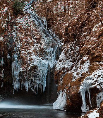 Photograph - Icy Waterfall by Beverly Cash