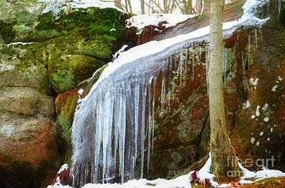 Photograph - Icy Waterfall  by Peggy Franz
