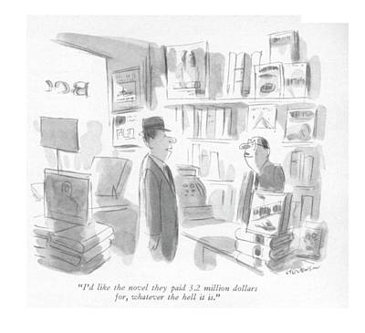 Author Drawing - I'd Like The Novel They Paid 3.2 Million Dollars by James Stevenson