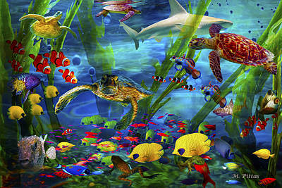 I'd Like To Be Under The Sea...... Art Print