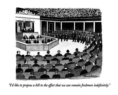 I'd Like To Propose A Bill To The Effect That Art Print by J.B. Handelsman