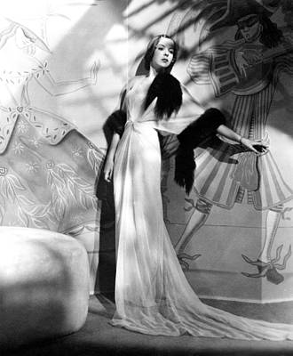 Evening Gown Photograph - Ida Lupino, Ca. Late 1930s by Everett