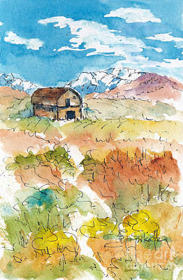 Painting - Idaho Barn by Pat Katz