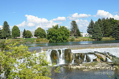 Photograph - Idaho Falls And Clouds by Debra Thompson
