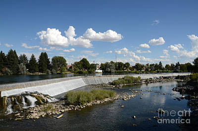 Photograph - Idaho Falls Cloudy Day by Debra Thompson