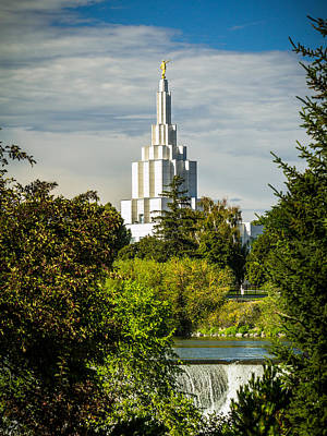 Photograph - Idaho Falls Lds Temple #1 by TL  Mair