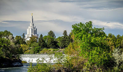 Photograph - Idaho Falls Lds Temple #2 by TL  Mair