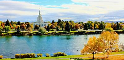 Photograph - Idaho Falls Temple by Benjamin Yeager