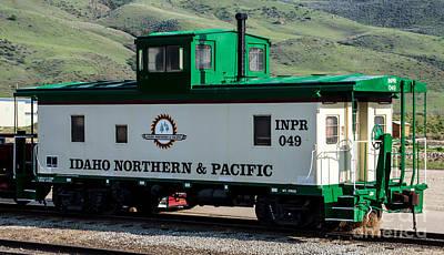 Idaho Northern And Pacific Railroad Caboose Art Print