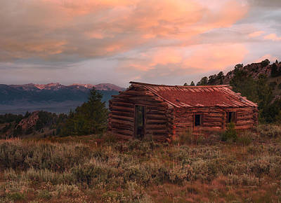 Idaho Pioneer Historical Cabin Art Print by Leland D Howard
