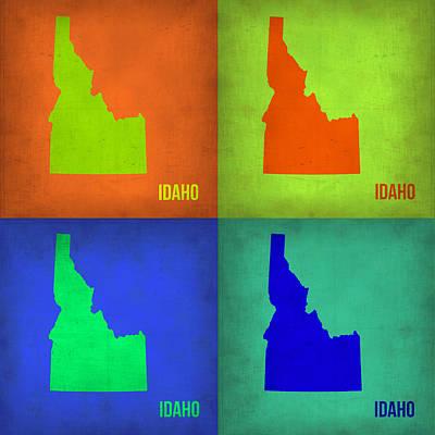 Idaho Pop Art Map 1 Art Print by Naxart Studio