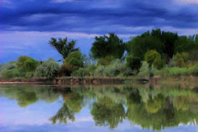 Idaho Snake River Reflection Art Print by Paddrick Mackin