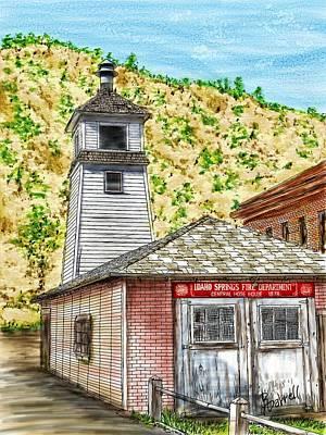Idaho Springs Firehouse Art Print by Ric Darrell