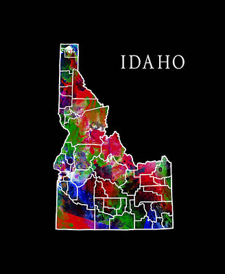 Teton Digital Art - Idaho State by Daniel Hagerman