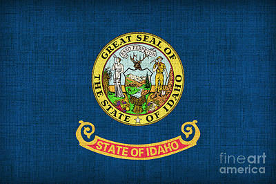 Idaho State Flag Art Print by Pixel Chimp