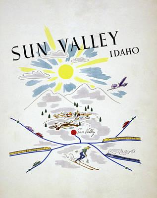 Ski Painting - Idaho Sun Valley, 1940 by Granger