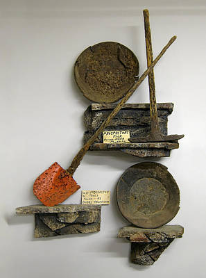 Lodes Photograph - Idaho Territory Gold Miner's Tools by Daniel Hagerman