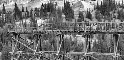 Pandora Photograph - Idarado Mine Trestle by Dan Sproul