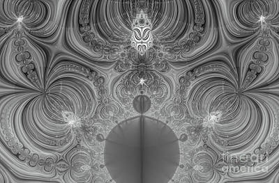 Digital Art - Idea And Echo Abstract Black And White Digital Art by Valerie Garner