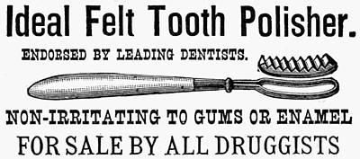 Felt Painting - Ideal Felt Toothbrush 1890 by Granger