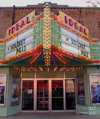 Clare Michigan Photograph - Ideal Theater In Clare Michigan by Terri Gostola