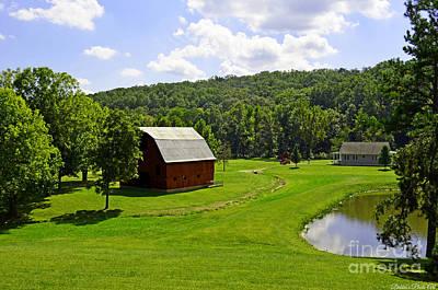 Photograph - Idelic Farm Landscape by Debbie Portwood