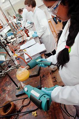 Identifying The Chemicals In Orange Peel Art Print